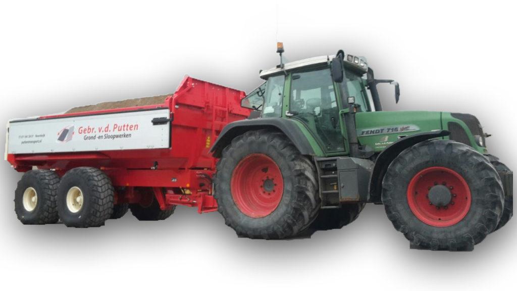 Tractor met dumper